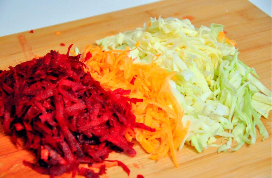 весенний салат щетка