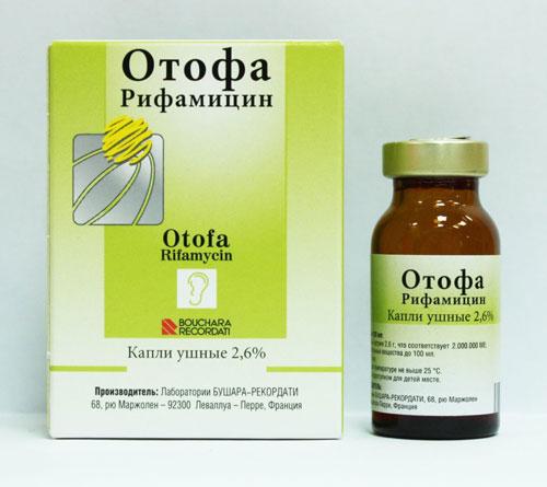 Капли ушные 2,6 % Отофа Рифамицин