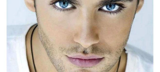 Голубые глаза у мужчин и женщин
