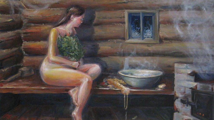 древняя Русь, старые, баня