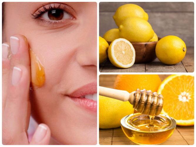 Маска лимон с медом