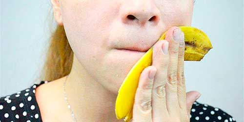 Кожура банана для кожи