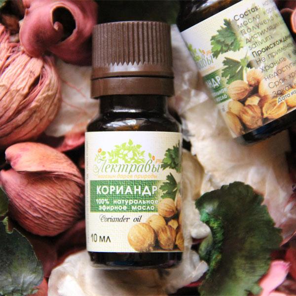 Эффективность масла кориандра для кожи, советы по применению