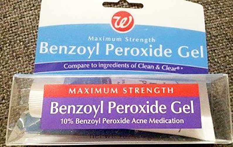 10% benzoyl peroxide gel