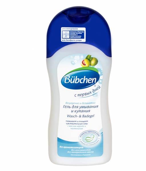 Гель Bubchen «С первых дней» для купания и умывания