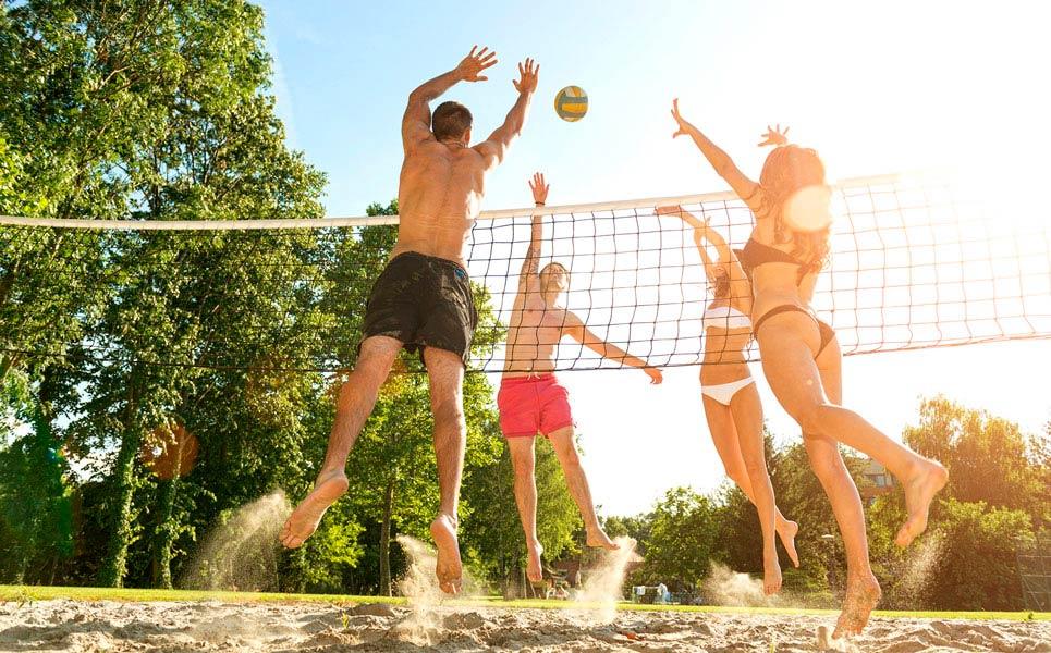 под солнцем игры, волейбол