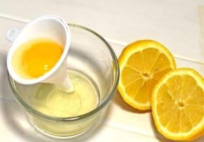 Маска лимон с яичным белком