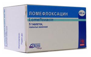 Антибиотик ломефлоксацин