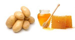 Аппликации из картофеля и меда