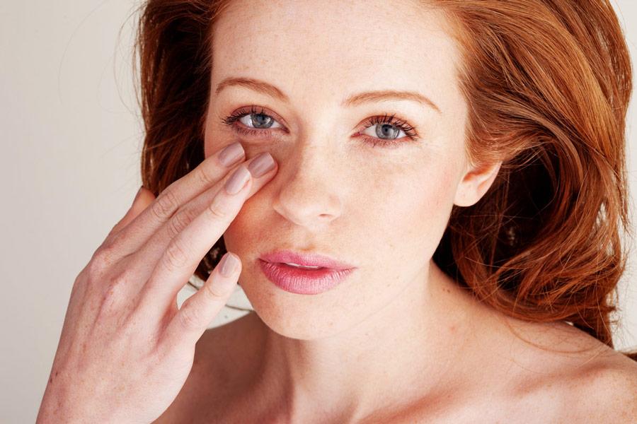 лицо, кожа вокруг глаз