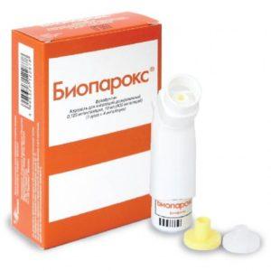 Биопарокс при гайморите