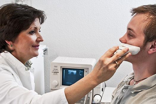 Процедура УЗИ пазух носа