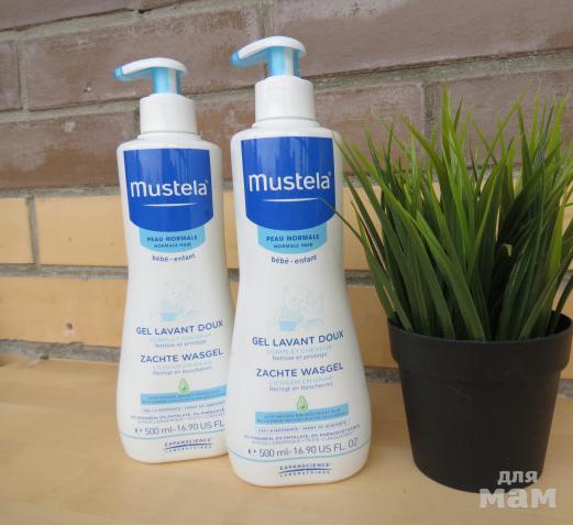 Гель для мытья тела и головы «Mustela», для купания младенцев