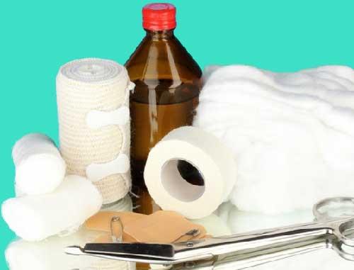 бинты стерильные, повязки, компрессы