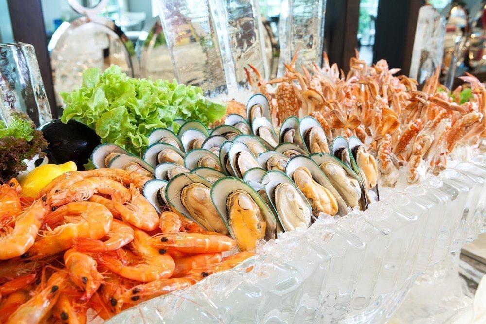 Морепродукты, питание
